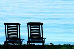 Sedia e spiaggia Fotografia Stock Libera da Diritti