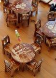 Presidenza e tabella di legno Fotografia Stock Libera da Diritti