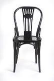 Presidenza nera - schwarzer Stuhl Fotografia Stock Libera da Diritti