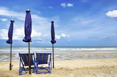 Presidenza sulla spiaggia Fotografie Stock Libere da Diritti