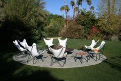 Presidenze del patio Fotografie Stock