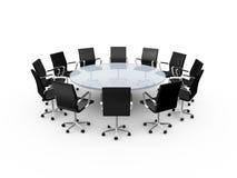 Presidenze della Tabella e dell'ufficio di conferenza Immagine Stock