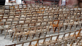 Presidenze di legno Fotografia Stock Libera da Diritti