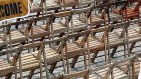 Presidenze di legno Fotografia Stock