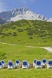 Presidenze di salotto con Alpspitze Fotografie Stock Libere da Diritti