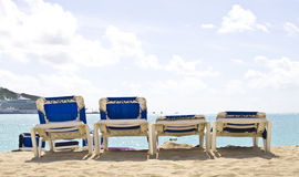 Presidenze di spiaggia Immagine Stock Libera da Diritti