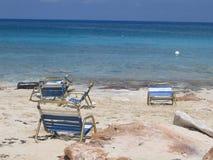 Presidenze di spiaggia delle Bahamas Fotografie Stock
