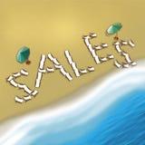 Presidenze di spiaggia di vendite Fotografia Stock