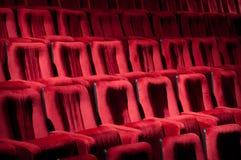 Presidenze rosse del teatro Fotografia Stock Libera da Diritti