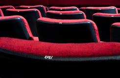 Presidenze rosse del teatro Immagini Stock