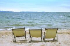 Presidenze sulla spiaggia Fotografie Stock