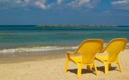 Presidenze sulla spiaggia Immagini Stock