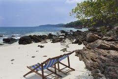 Presidenze sulla spiaggia tropicale Fotografia Stock Libera da Diritti
