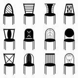 Presiderar den monokromma illustrationen för symbolsamlingsvektorn Royaltyfria Bilder