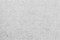 Presiderar vit pastell vävde kanfasmodeller från golv bakgrund Grå tygtextur Modell av organisk bomull Lodisar för grå färgsäckli Arkivfoton