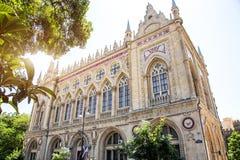Presidiet av akademin av vetenskaper av Azerbajdzjan lokaliseras i Baku Gotiskt för stil för arkitektonisk stil Venetian arkivfoto