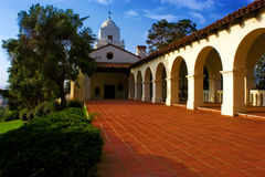 Presidio de San Diego. Courtyard leading to the chapel at the historic Presidio in San Diego's Old Town Stock Image