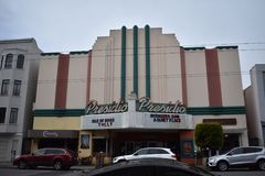 The Presidio movie theater, one of the last original theaters left in San Francisco. San Francisco used to have over seventy movie theaters. But with the advent Stock Images