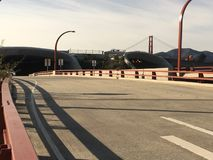 Presidio Parkway, the former Doyle Drive, leading to the Golden Gate Bridge, 1. stock photos