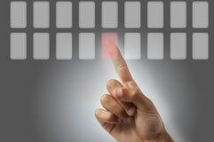 Presiona el botón foto de archivo libre de regalías