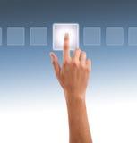 Presionado a mano uno de las opciones Imagenes de archivo