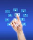 Presionar el cojín dominante del número Imágenes de archivo libres de regalías