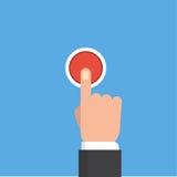Presionar el ejemplo del vector del botón Concepto del botón Fotos de archivo