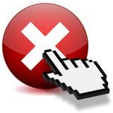 Presione el botón cruzado ilustración del vector