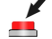 Presione el botón rojo Fotografía de archivo libre de regalías