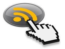 Presione el botón 3D de la alimentación de Rss Imágenes de archivo libres de regalías