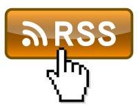 Presione el botón de la alimentación de Rss Fotografía de archivo libre de regalías