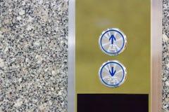 Presione el elevador para arriba y el elevador del telclado numérico Fotos de archivo libres de regalías