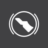 Presione el pedal de freno Imagen de archivo