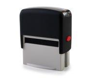 Presione el sello en un fondo blanco Imágenes de archivo libres de regalías