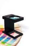 Presione a la gerencia de color imágenes de archivo libres de regalías