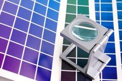 Presione a la gerencia de color imagen de archivo libre de regalías