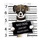Preso del perro de la historieta dogcriminal ilustración del vector