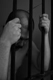 Preso en cárcel imagen de archivo