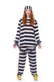 Preso en uniforme rayado Imagen de archivo libre de regalías