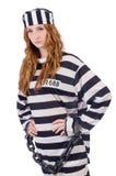 Preso en uniforme rayado Foto de archivo libre de regalías