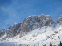 Presolana ist ein Gebirgszug des Orobie, italienische Alpen Landschaft im Winter nach Schneefälle Stockfotografie