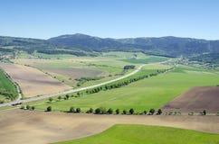 Presov region jak widzieć od Spiss kasztelu zdjęcie stock