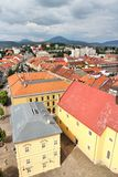 Presov, Slovakia. Aerial view of the old town Royalty Free Stock Images