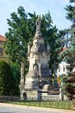 The Marian Plague in Presov, Slovakia. Presov, Slovakia. 09 AUGUST 2015. The Marian Plague Column in Presov, Slovakia. Baroque structure erected to commemorate Stock Images
