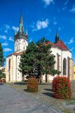 Overview of ST. Nicholas Church in Presov, Slovakia. Presov, Slovakia. 09 AUGUST 2015. St. Nicolas church slovak: Dom sv. Mikulasa. The oldest and most precious Stock Photo