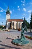 St. Nicholas church in Presov, Slovakia. Presov, Slovakia. 09 AUGUST 2015. St. Nicolas church slovak: Dom sv. Mikulasa. The oldest and most precious church in Stock Images