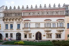 Presov in SLovakia. The oldest tenement house in the city. Presov, Slovakia. 09 AUGUST 2015. One of the oldest tenement houses in Presov. Renaissance Rakoczi Royalty Free Stock Photos
