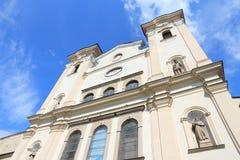 Presov, Slovakia. Roman Catholic Franciscan Church. Old landmark Royalty Free Stock Images