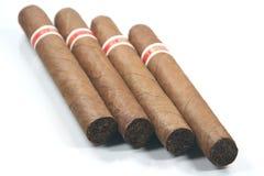 Presp de quatre cigares Photographie stock