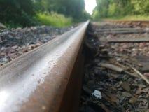 prespective da linha railway Foto de Stock